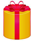 Ronde van de doos van de gift van de cilinder — Stockvector