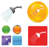 Shower vector icons — Stock Vector