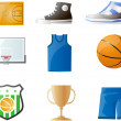 Basketball elements clipart vector — Foto Stock