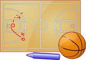 Basketball and Tactic Plan — Stock Photo