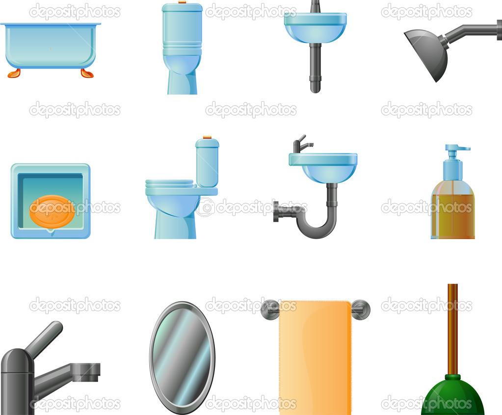Bathroom elements clipart stock photo webstocker 23408138 - Image of bathroom ...