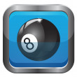 Number 8 billiard button — Stock Photo