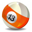 Number 13 Billiard Ball — Stock Photo
