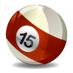 Billiard Ball 15 — Stock Photo #31791883
