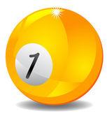 Bola de bilhar número 1 — Fotografia Stock