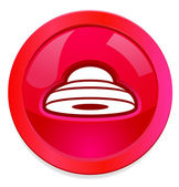 Alien Flying Saucer web button — Stockfoto