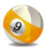 Number 9 Billiard Ball — Stock Photo