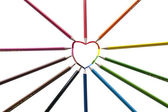 Heart painted with all colors — Stock Photo