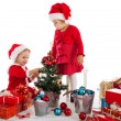 Two happy santa helpers — Stock Photo #16820273