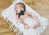 Newborn men — Stock Photo