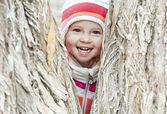 Happy baby in the park — Stock Photo