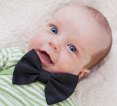 Newborns happy gentleman — Stock Photo