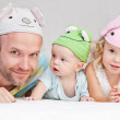Happy dad with children — Stock Photo #29001165