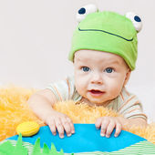Cute baby playing — Stock Photo