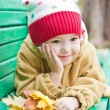 Autumn portrait of cute little girl — Stock Photo