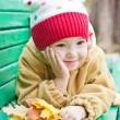 Autumn portrait of cute little girl — Stock Photo