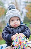 Portrait of a cute baby boy — Stock Photo