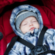 Adorable baby boy sleeping — 图库照片
