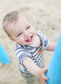 Portrait of a happy toddler child — Stock Photo