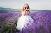 Portrait smiling toddler girl  — Fotografia Stock
