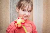Happy funny little girl — Stock Photo