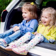 Happy kids in the car — Stock Photo #49979455
