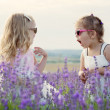 Two funny little girls play — Stock Photo #49990597