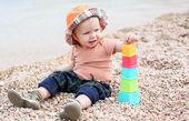 Cute toddler baby playing  — Stock Photo