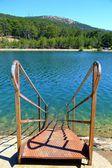 Steps to a lake — Stock Photo