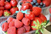 Berries in a box — Stock fotografie