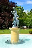 Fountain and park — Stock Photo