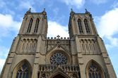 Exterior of Bristol cathedral — Stock Photo