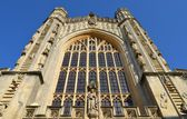 Facade from Bath cathedral — Stock Photo