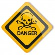 Label danger — Stock Vector