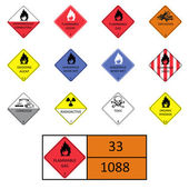 Warning signs, symbols — Stock Vector