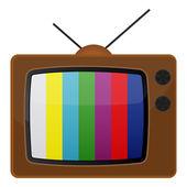 Retro tv, test pattern. EPS 10 — Stock Vector