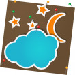Moon and clouds — Stock Vector
