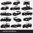 Cars silhouette — Stock Vector