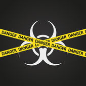 Vector illustration danger tape biohazard — Stock Vector
