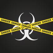 Vector illustration danger tape biohazard — Stock Vector