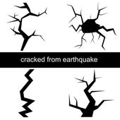 Vector illustration of a crack from the earthquake — Stock Vector