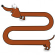 Stock Vector: Dachshund