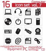 Icon computer — Stock Vector