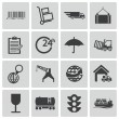 Stock Vector: Vector black logistic icons set