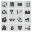 Vector black money icons set — Stock Vector #30971753