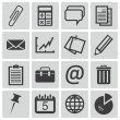 Stock Vector: Vector black office icons set