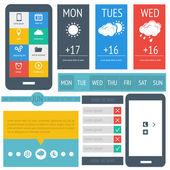 UI flat design, web elements — Stock Vector