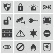 Stock Vector: Vector black security icons set