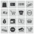 Vector black  shop icons set — Stock Vector