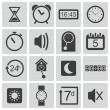 Vector black time icons set — Stock Vector #31179595